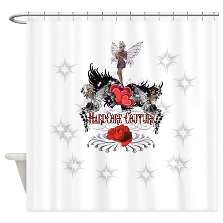Fairies Winged Hearts HardCo Shower Curtain