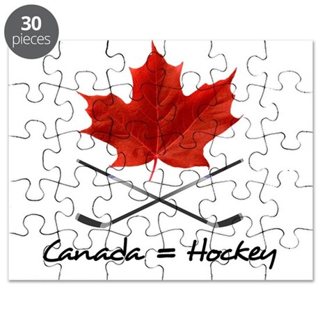 Canada. Hockey. Puzzle