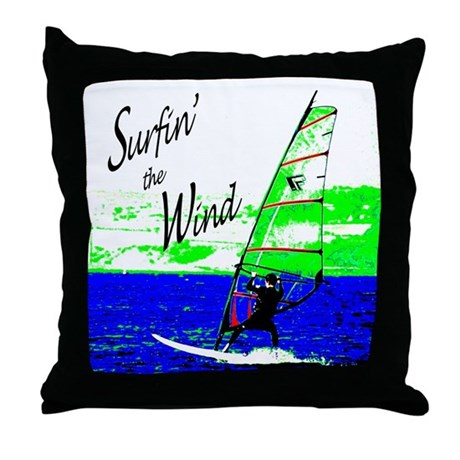 Surfin' the Wind Throw Pillow