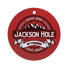 Jackson Hole Red Ornament (Round)