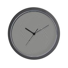 Black White Swirl Wall Clock