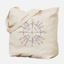 unit circle funny math geek Tote Bag