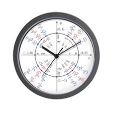 unit circle funny math geek Wall Clock