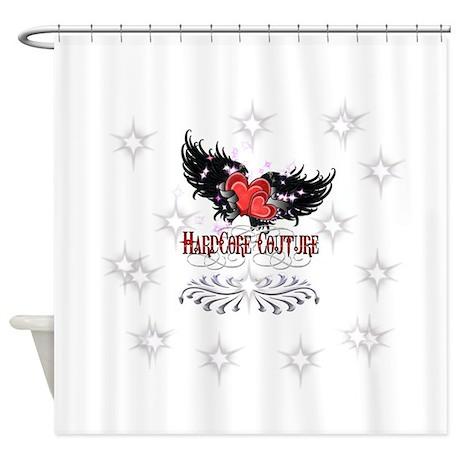 Angel Wings Heart by HardCore Shower Curtain