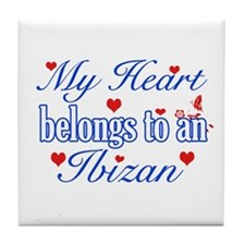 Ibizan Hound Dog Designs Tile Coaster