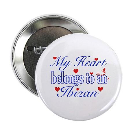 """Ibizan Hound Dog Designs 2.25"""" Button"""