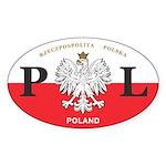 PL Car Decal - Polish Hritage - Oval Sticker