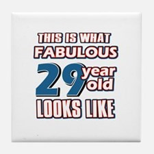Cool 29 year old birthday designs Tile Coaster