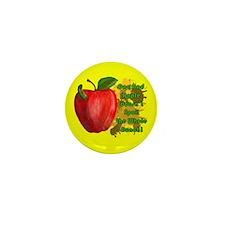 One Bad Apple Mini Button