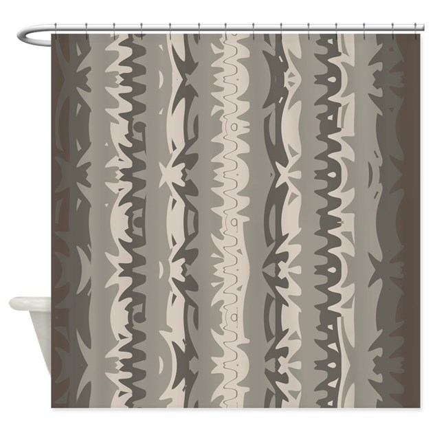Brown And Grey Shower Curtain 01004 00006 By Shower Curtains