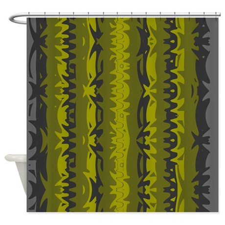 Green Grey Shower Curtain 01004 00007 By Shower Curtains