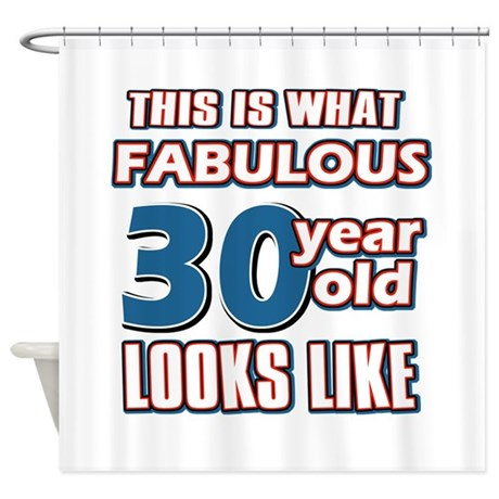 Cool 30 year old birthday designs Shower Curtain