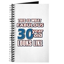 Cool 30 year old birthday designs Journal