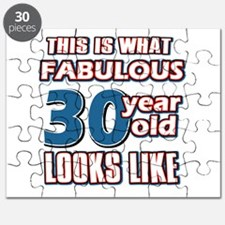 Cool 30 year old birthday designs Puzzle