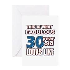 Cool 30 year old birthday designs Greeting Card
