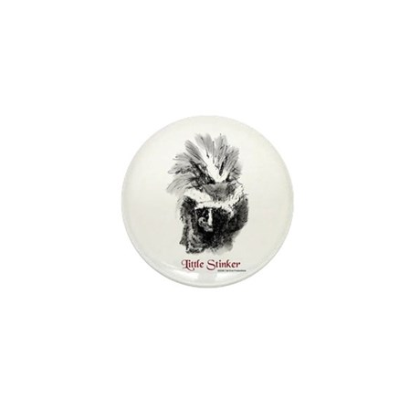 Skunk Little Stinker Mini Button