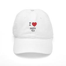 I heart green tea Baseball Cap