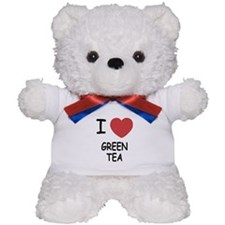 I heart green tea Teddy Bear