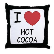 I heart hot cocoa Throw Pillow