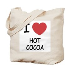 I heart hot cocoa Tote Bag