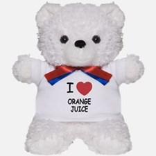 I heart orange juice Teddy Bear
