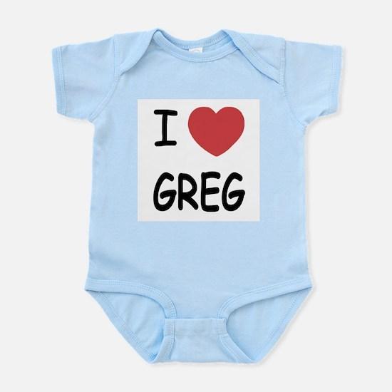 I heart greg Infant Bodysuit