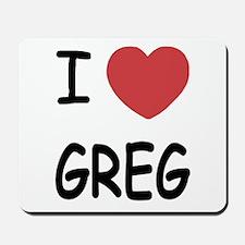I heart greg Mousepad