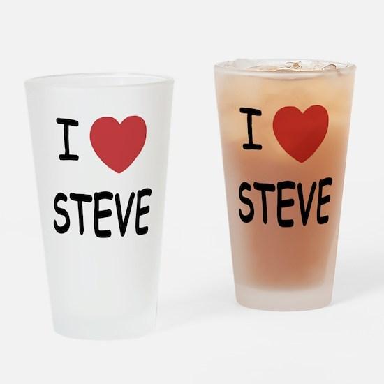 I heart steve Drinking Glass