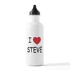 I heart steve Water Bottle