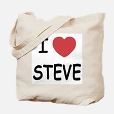 I heart steve Tote Bag