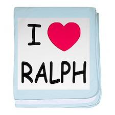 I heart ralph baby blanket