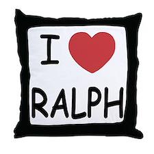 I heart ralph Throw Pillow