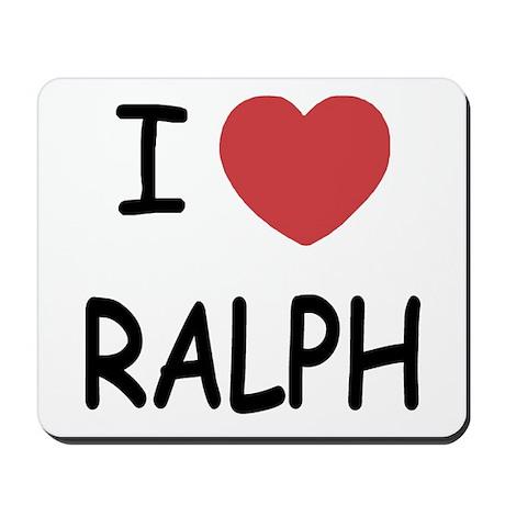 I heart ralph Mousepad