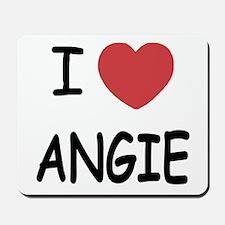 I heart angie Mousepad