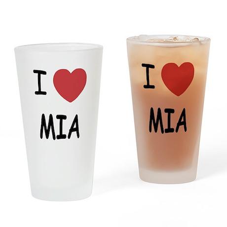 I heart mia Drinking Glass