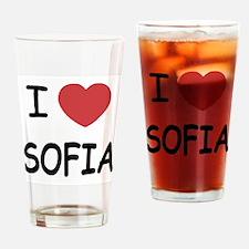I heart sofia Drinking Glass