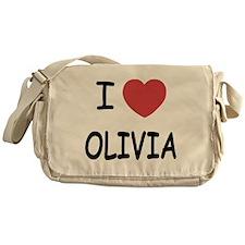 I heart olivia Messenger Bag