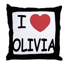 I heart olivia Throw Pillow