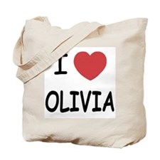 I heart olivia Tote Bag
