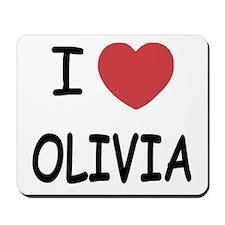 I heart olivia Mousepad