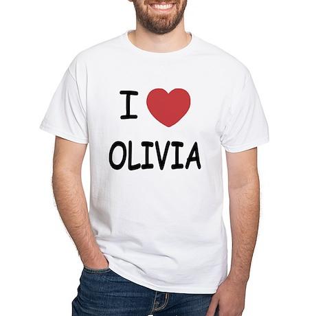 I heart olivia White T-Shirt