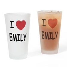 I heart emily Drinking Glass