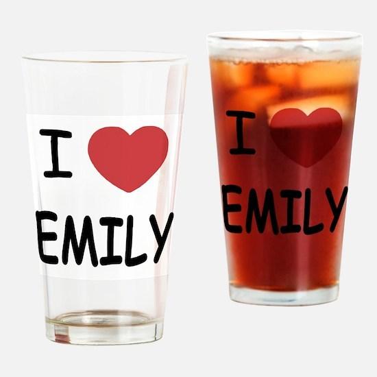 I heart emily Drinking Glass