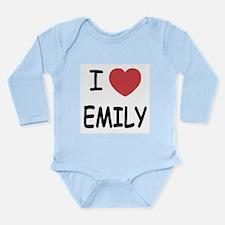 I heart emily Long Sleeve Infant Bodysuit