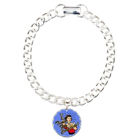 Time for Cocktails Charm Bracelet, One Charm