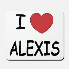 I heart alexis Mousepad