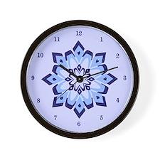 Blue Frost Wall Clock