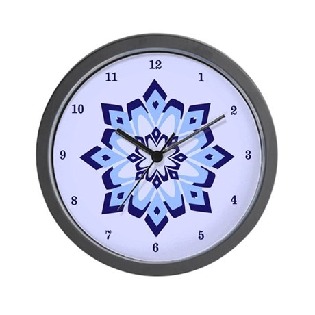 Blue Frost Wall Clock