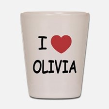 I heart olivia Shot Glass