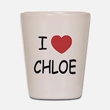 I heart chloe Shot Glass